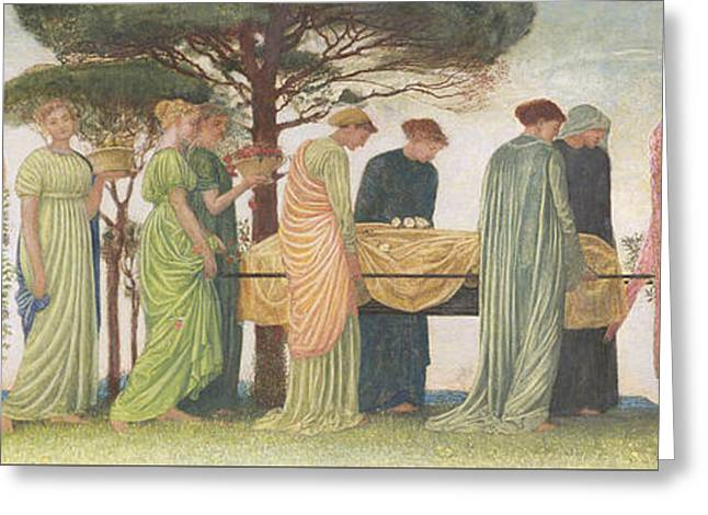 Sorrow Greeting Cards - The Death of the Year Greeting Card by Walter Crane