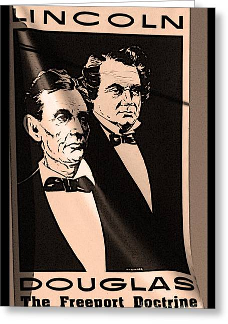 The Debaters Greeting Card by David Bearden