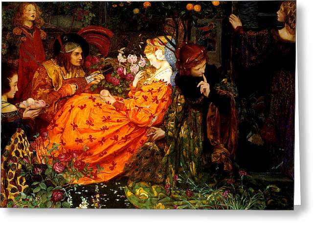The Deceitfulness Of Riches Greeting Card by Eleanor Fortescue-Brickdale