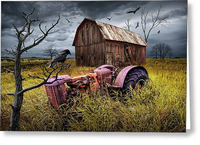 Greeting Card featuring the photograph The Decline And Death Of The Small Farm by Randall Nyhof