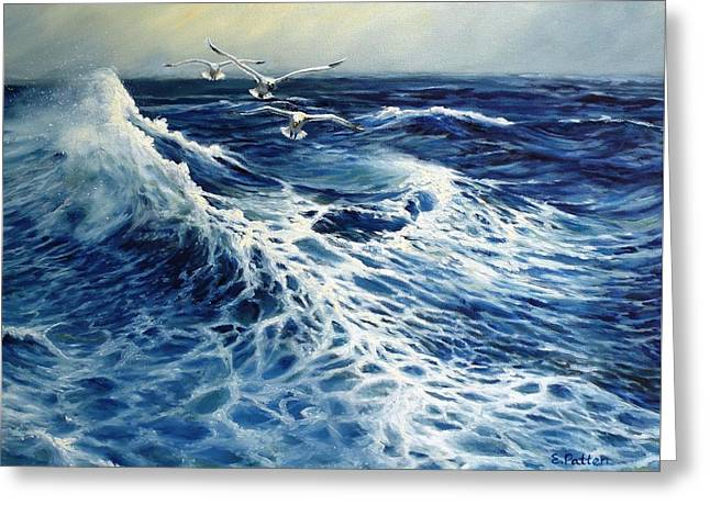 The Deep Blue Sea Greeting Card by Eileen Patten Oliver