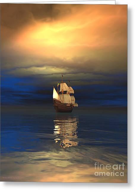 The Deep Blue Sea Greeting Card by Sandra Bauser Digital Art