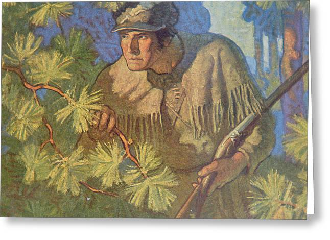 The Deerslayer  Greeting Card by Newell Convers Wyeth