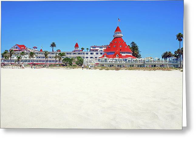 The Del Coronado Hotel San Diego California Greeting Card
