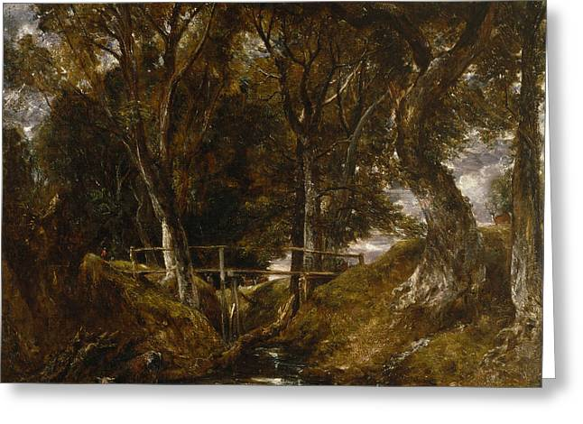 The Dell At Helmingham Park Greeting Card by John Constable