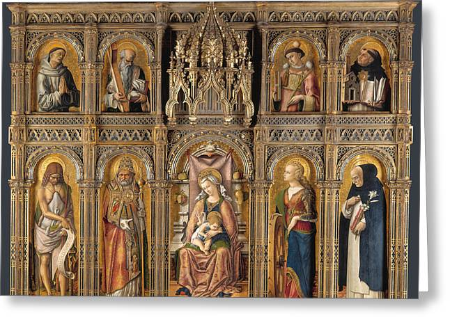 The Demidoff Altarpiece Greeting Card