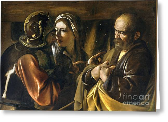 The Denial Of Saint Peter Greeting Card