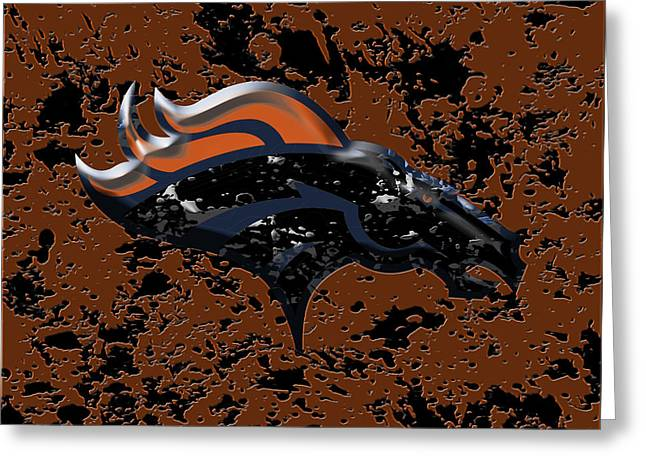 The Denver Broncos 1b Greeting Card by Brian Reaves