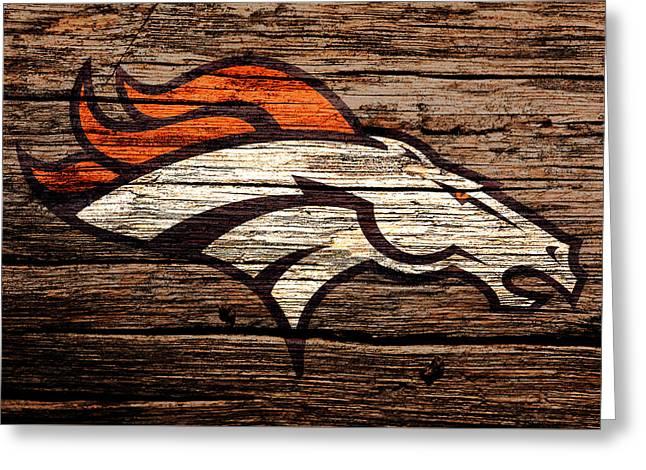 The Denver Broncos 8b Greeting Card
