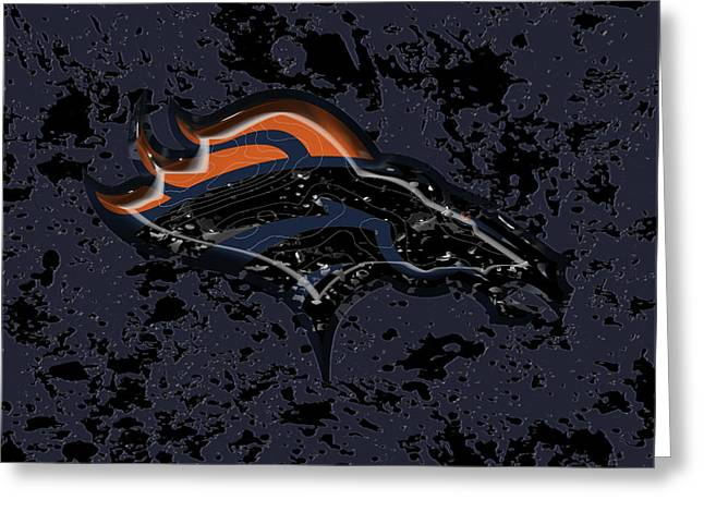 The Denver Broncos  Greeting Card by Brian Reaves