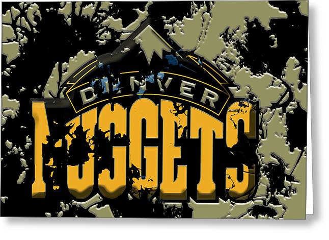 The Denver Nuggets 1b Greeting Card by Brian Reaves