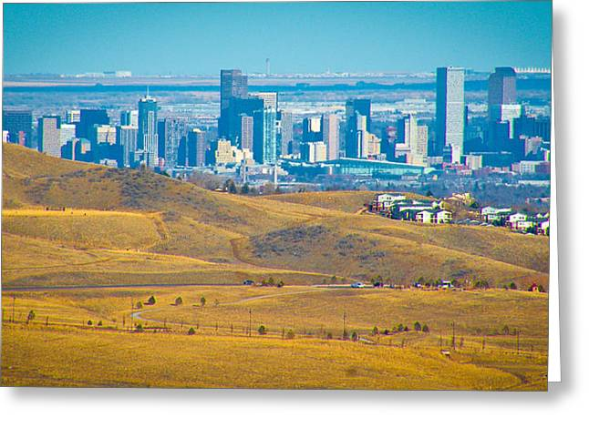 The Denver Skyline II Greeting Card by David Patterson