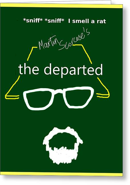 The Departed Movie Poster Greeting Card