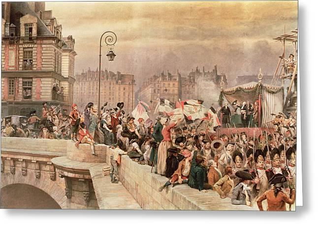 The Departure Of The Volunteers 1792 Greeting Card