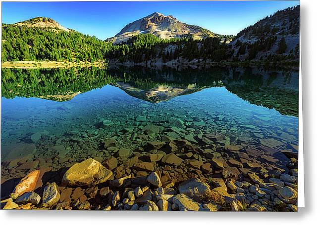 Greeting Card featuring the photograph The Depths Of Lake Helen by John Hight