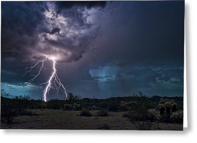 The Desert Monsoons Greeting Card by Saija Lehtonen