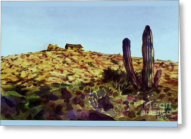 The Desert Place Greeting Card