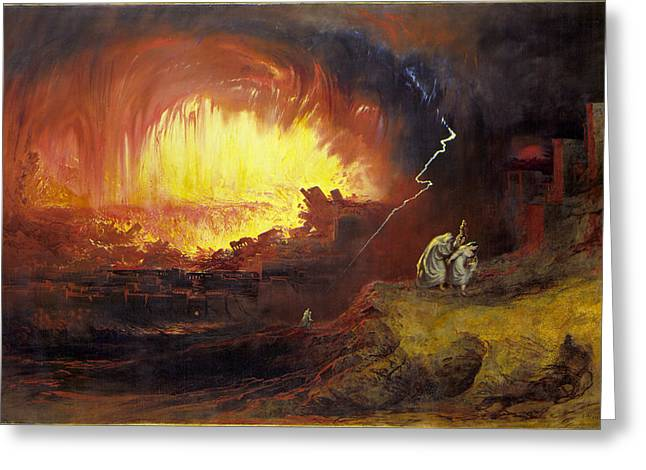The Destruction Of Sodom And Gomorrah, 1852, By John Martin Greeting Card by John Martin