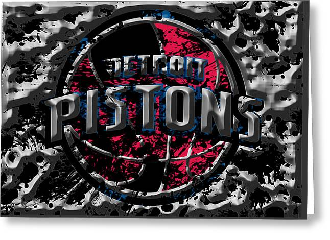 The Detroit Pistons 1a Greeting Card by Brian Reaves