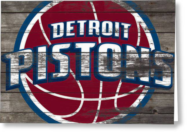 The Detroit Pistons 4f         Greeting Card by Brian Reaves