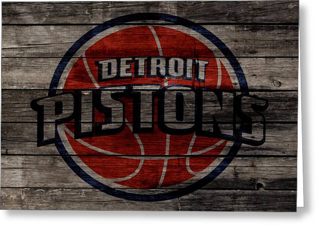The Detroit Pistons W1 Greeting Card by Brian Reaves