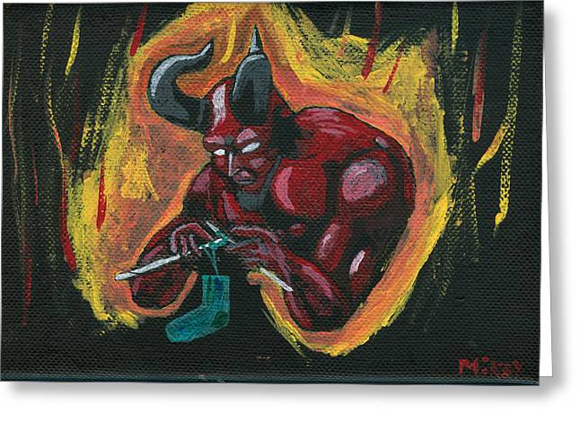 The Devil's Day Of Down Time Greeting Card by Mikey Milliken
