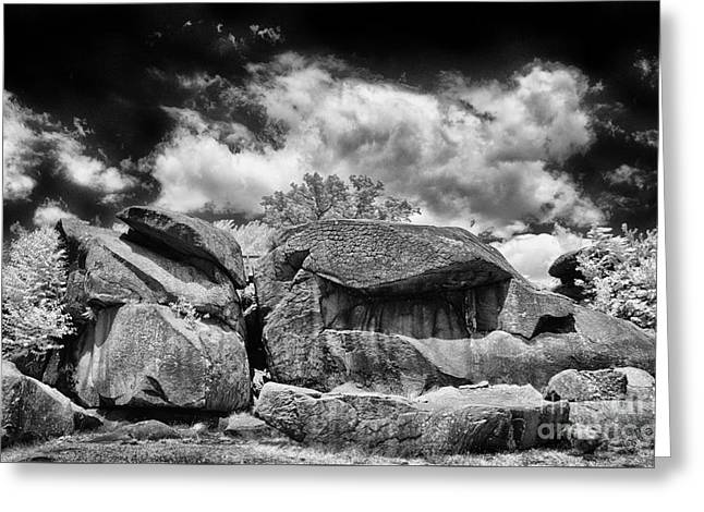 The Devils Den Greeting Card by Paul W Faust - Impressions of Light