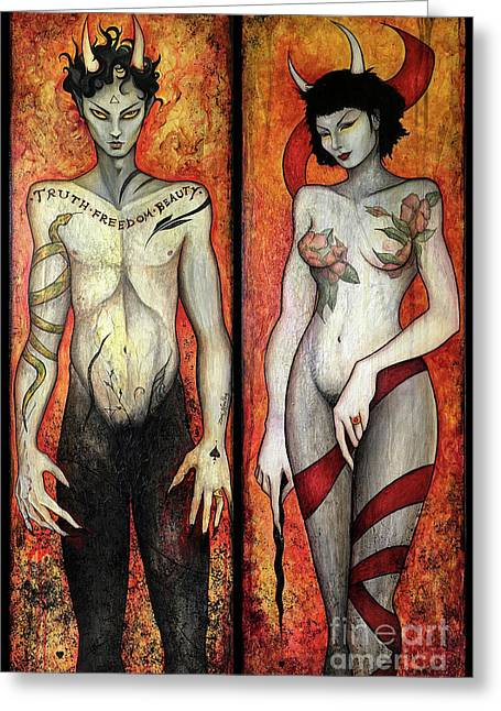 The Devils Greeting Card by Dori Hartley