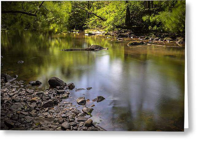 Greeting Card featuring the photograph The Devon River by Jeremy Lavender Photography