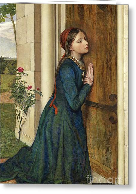 The Devout Childhood Of Saint Elizabeth Of Hungary, 1852 Greeting Card by Charles Alston Collins