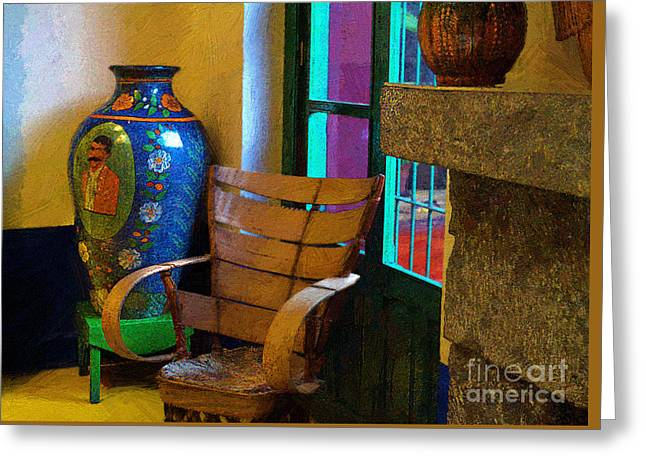The Dining Room Corner In Frida Kahlo's House Greeting Card