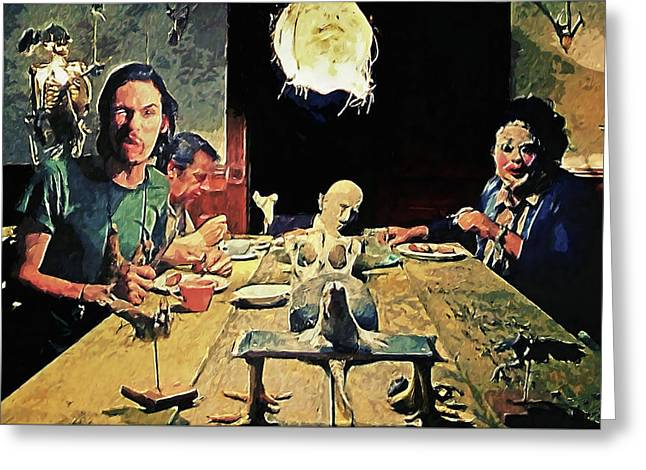 The Dinner Scene - Texas Chainsaw Greeting Card