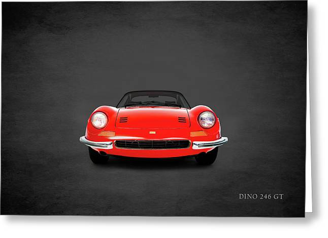 The Dino 246gt Greeting Card by Mark Rogan