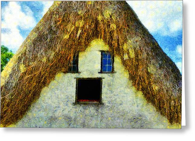 The Disheveled House - Da Greeting Card by Leonardo Digenio