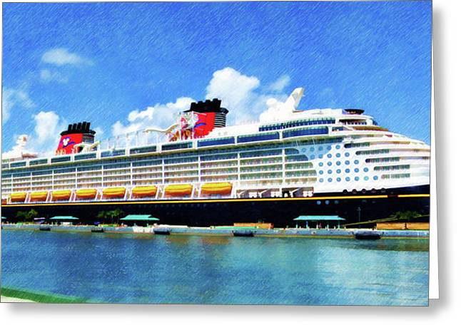 The Disney Dream In Nassau Greeting Card
