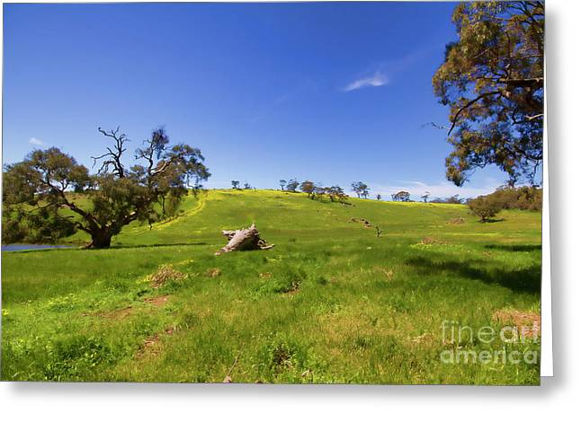 Greeting Card featuring the photograph The Distant Hill by Douglas Barnard