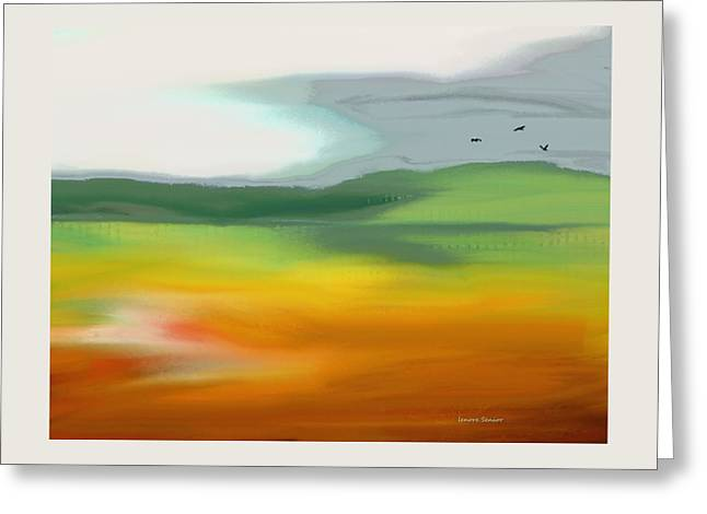 The Distant Hills Greeting Card by Lenore Senior