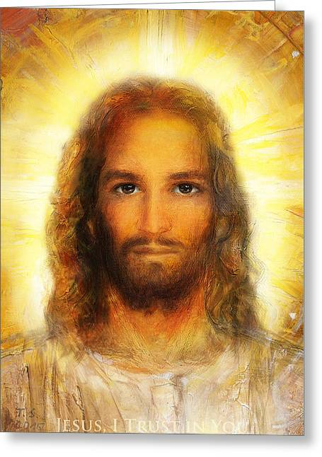 The Divine Mercy, Jesus I Trust In You - 4 Greeting Card