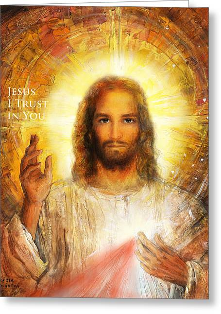 The Divine Mercy, Jesus I Trust In You - 3 Greeting Card