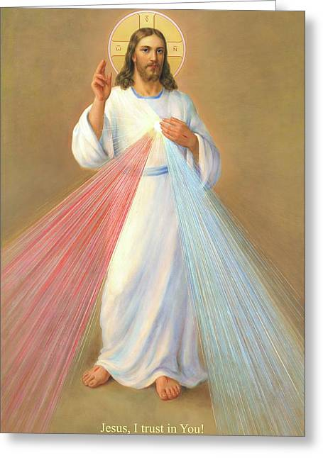 The Divine Mercy Of Jesus Greeting Card