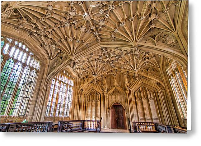 The Divinity School At The Bodleian Library Greeting Card