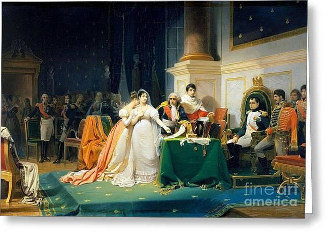 The Divorce Of Empress Josephine Greeting Card