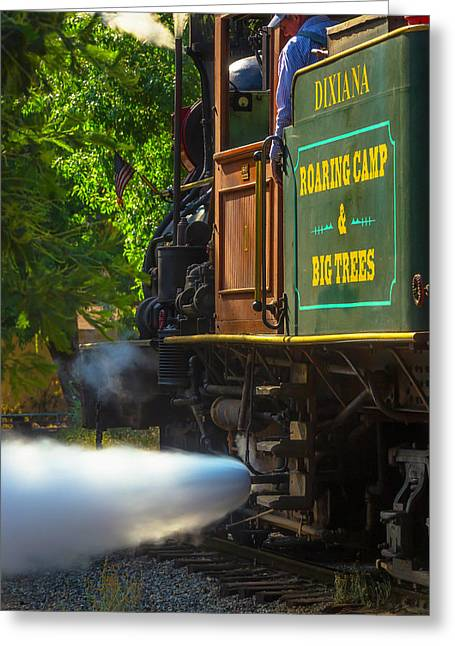The Dixiana Letting Off Steam Greeting Card by Garry Gay
