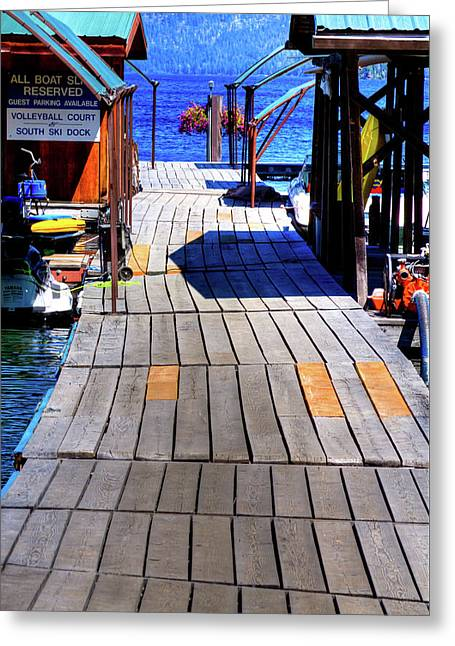 The Dock At Hill's Resort Greeting Card by David Patterson