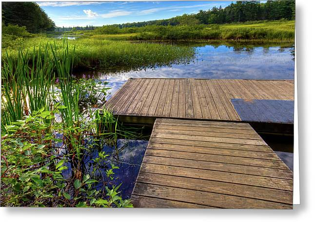 The Dock At Mountainman Greeting Card by David Patterson