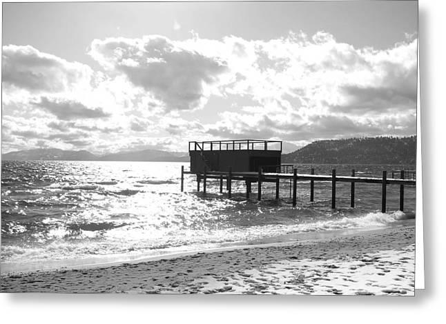 The Dock In Tahoe Greeting Card by Kiwi Lee