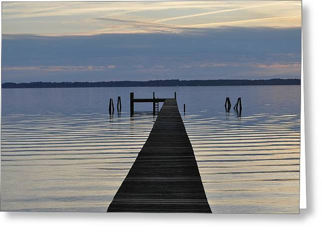 The Dock Greeting Card by Tiffney Heaning