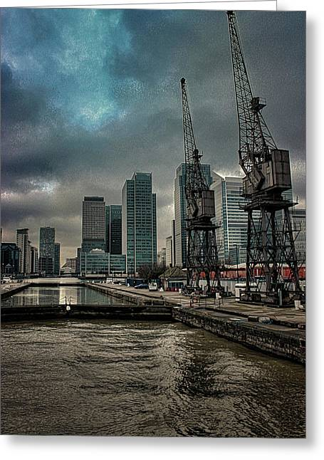 The Docks Greeting Card by Martin Newman