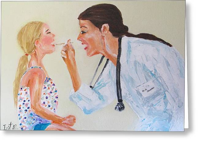 The Doctor Greeting Card by Irit Bourla