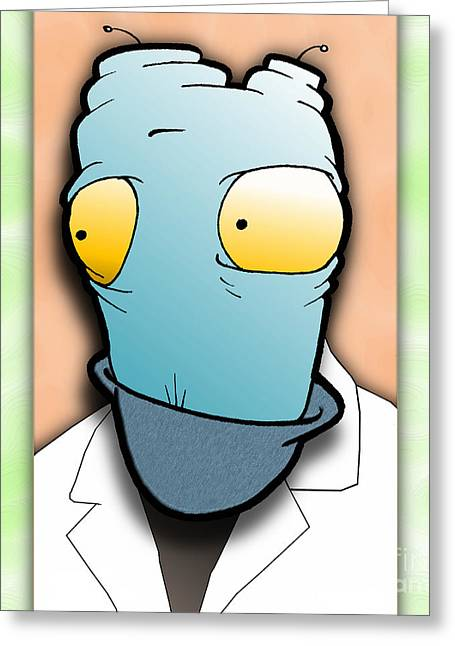 Greeting Card featuring the digital art The Doctor by Uncle J's Monsters